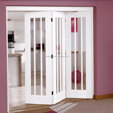 Interior glass double french doors concertina folding doors