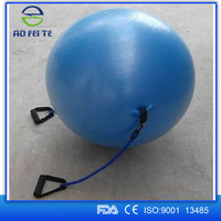 wholesale ! Anti-Burst Gym Ball with Resistance Tubes, Exercise Ball with Rubber Bands, Anti Burst Yoga Ball with Elastic Bands