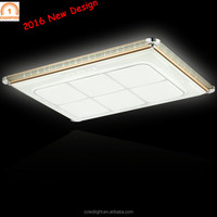Rectangle modern contemporary semi flush ceiling light led