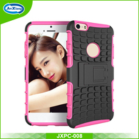 Hot sale Cellphone rubber phone case with kickstand for iPhone 6