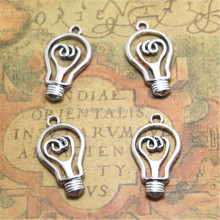 The light bulb Charms ,Antique Tibetan Silver Tone bulb charm Pendants 31x17x4mm