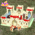 Top fashion educational miniature wooden castle toys for kids W06A121