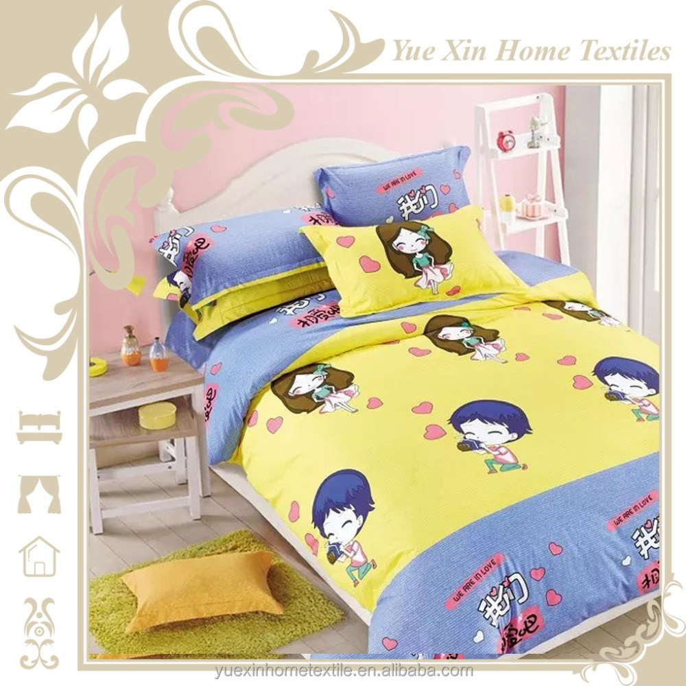 Comfortable microfiber bed clothes with cartoon printing 3d