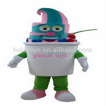 Hola food adult frozen yogurt mascot costume/food mascot costume