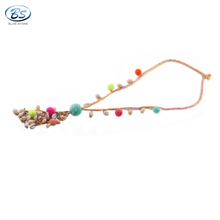 MBN057 Blue Stone new bohemia shell necklace latest design beads necklace fashion jewelry