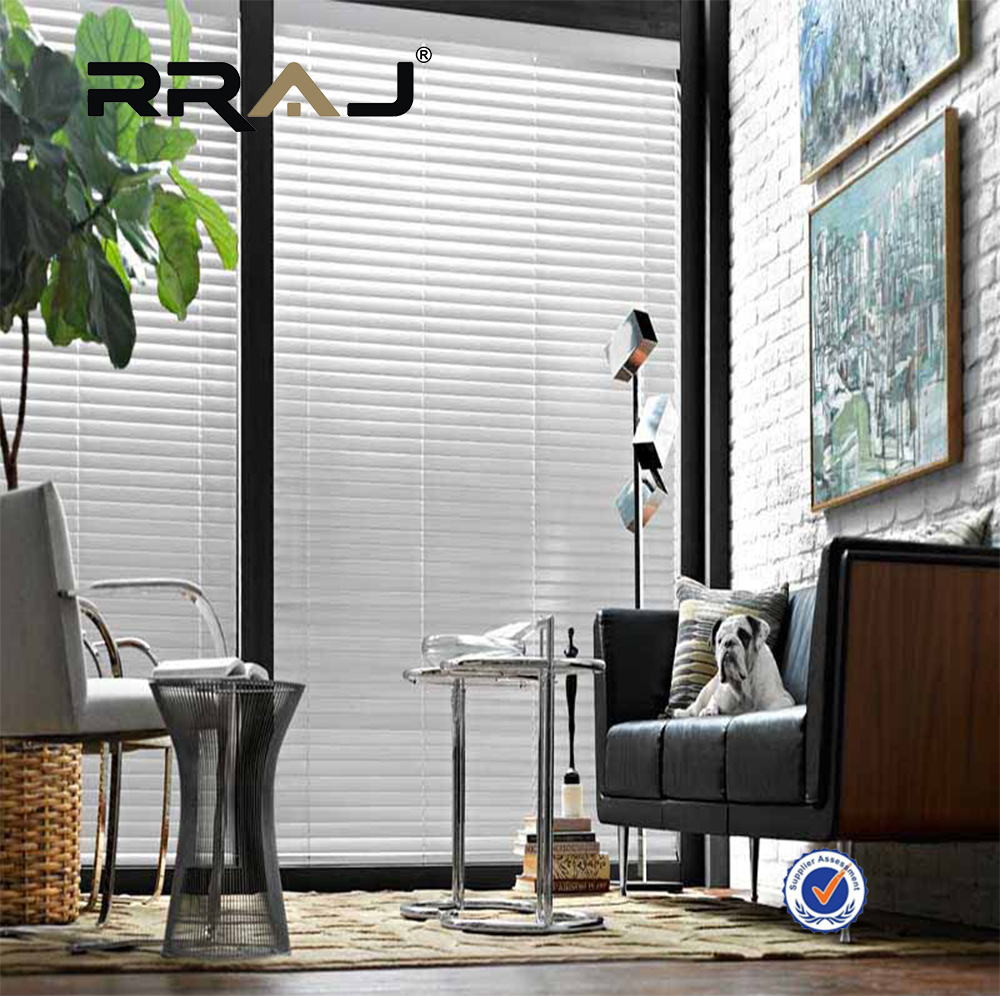 RRAJ white basswood venetian blinds 50mm slat wood blind