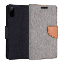 China suppliers book style mobile phone shell OEM flip cover cowboy leather case for iphone 8
