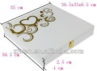 High quality wooden wedding photo album box for 12x12 inch album
