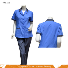 Wholesale cheap comfortable hotel cleaner work uniforms for men and women