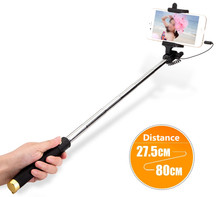 Wholesaler Universal Portable Cable Monopod Selfie Stick For Iphone,Mini Selfie Stick With Shutter Button For Smartphone