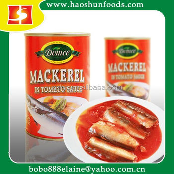 Customized Canned Mackerel in Tomato Sauce for Ghana