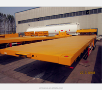 3 Axle 55T Flatbed Shipyard Transporter Container Semi Trailer