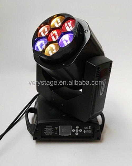 High Bright 4in1 RGBW DMX Beam Wash Zoom Bee Eye 7x15w Mini LED Moving Head
