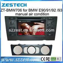 ZESTECH wholesales 2 Din Touch screen dvd gps navigation system radio car Multimedia player for BMW E92 2005-2012