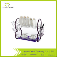 Seductive Purple Metal Kitchen Cabinet Dish Rack