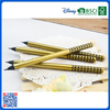 2016 Wholesale slap-up metallochrome black wooden HB pencil with customized LOGO for kids