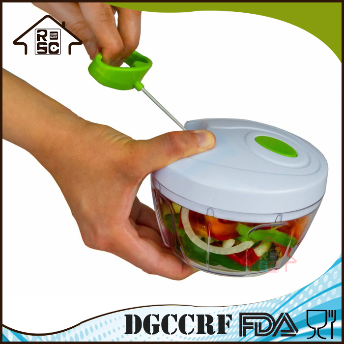 NBRSC China Supplier Manual Food Chopper Compact Powerful Hand Held Vegetable Chopper