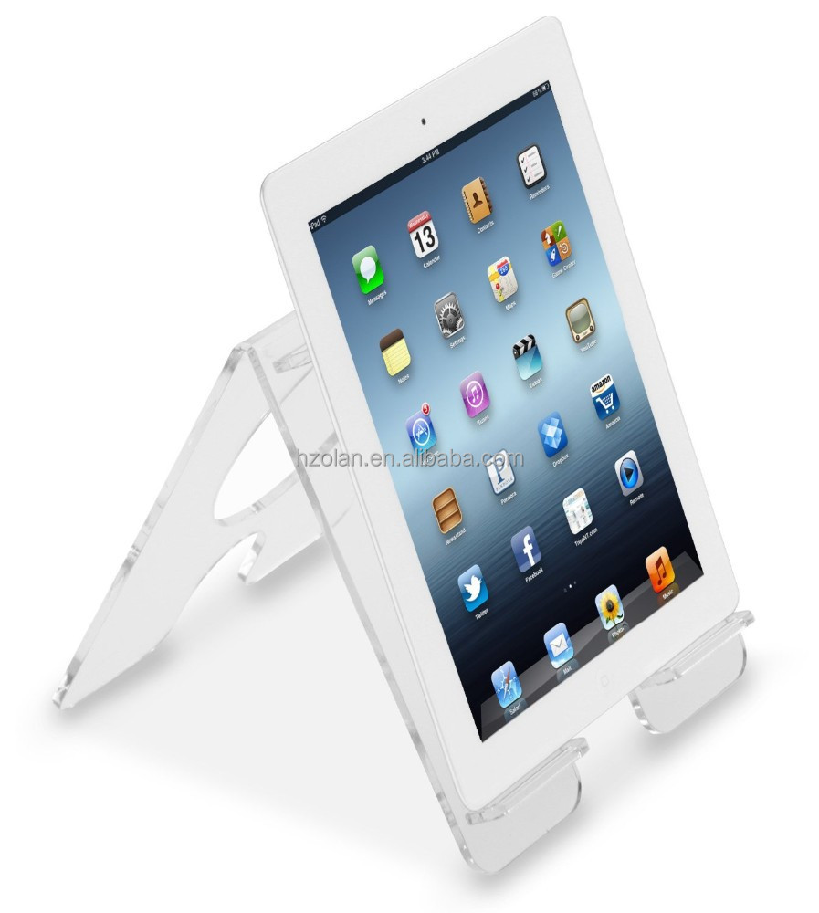 Crystal Clear Acrylic iPad display stand