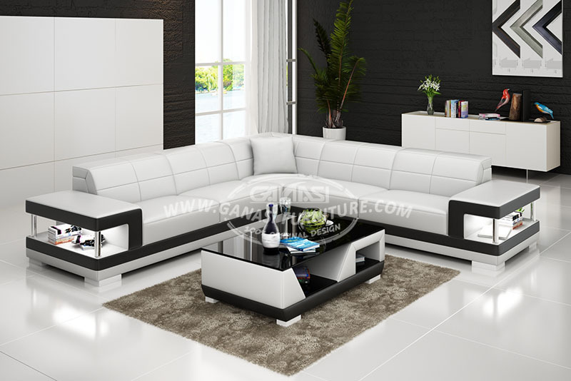 L shaped sofa latest design sofa set luxury sofa furniture for Latest design of sofa set for drawing room