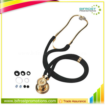 Diagnostic Gold Double Tube Medical Stethoscope