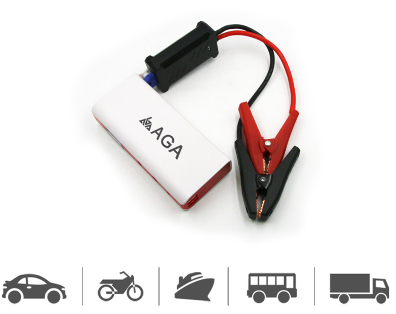 AGA car jump starter with LCD Screen portable car jump starter power bank for vehicle and mobile phones