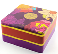 Factory direct high quality custom square mooncake cookie tin box
