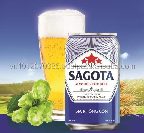 Vietnam Vegetarian Beer SAGOTA 330ml FMCG products