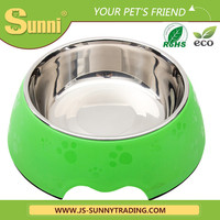 wholesale personalised pet cat dog bowl stainless steel
