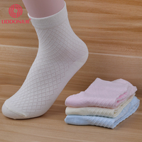 Fashion style diamond riser vent design suit for all season yoga sport dress bamboo stock sock
