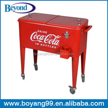 metal cooler cart