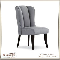 hotel bedroom solid wood writing chair, armless chair for writing desk table