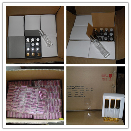 Screen Printing Surface Handling and Perfume Industrial Use Cylinder Glass Bottle