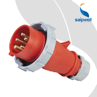 Saip Saipwell IP44 IP67 SP288 16A 32A 63A 125A 5 Poles Industrial Plug and Socket Waterproof IP67 Industrial Plug for Vessel