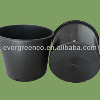 50L black plastic bucket