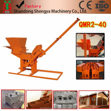 China Machinery QMR2-40 Hydraform Interlocking Clay brick machine Afrika manual Clay block making machine