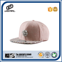Thick dyed wool hat woman cap hiphop hat with 6 panels