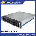 2016 new hot sale 2u 8 bay 550mm length rack mount server chassis industrial computer case(free sample is provided)