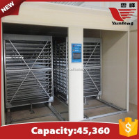 YFXF-45 high quality commercial 45360 eggs egg incubator for sale made in germany