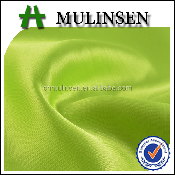 Mulinsen Textile Woven Dyed Wholesale Polyester Shiny Satin Fabric For Ball Gowns