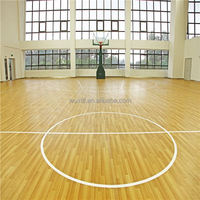 Barefoot friendly sound proof wood basketball floors for sale