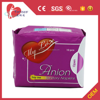 Blue Anion Core disposable sanitary towels