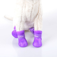 Outdoor waterproof dog sock dog shoe silicone fashion dogs shoes