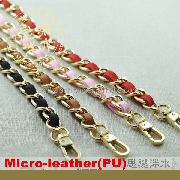PURSE SHOULDER CROSSBODY CHAIN STRAP DIY PU LEATHER REPLACEMENT BAG HANDBAG GOLD CHAIN