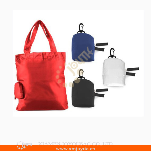 2015 Eco-friendly Folding tote bag with pouch