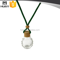 5ml 8ml 10ml hanging empty glass custom car air freshener bottle