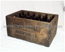 High quality hot selling wooden beer crates/wine carrier wholesale
