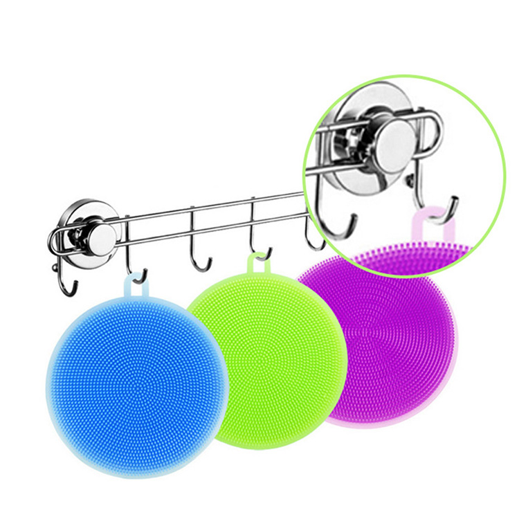 Brush Bowl Wash Cleaning Brushes Cooking Tool Cleaner Silicone Sponges Scouring Pads Silicone dish cleaning brush
