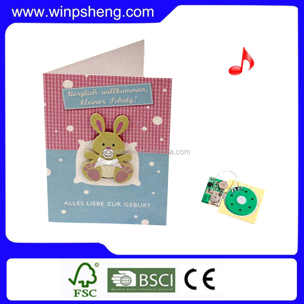 China professional design kinds programmable musical chips for greeting card