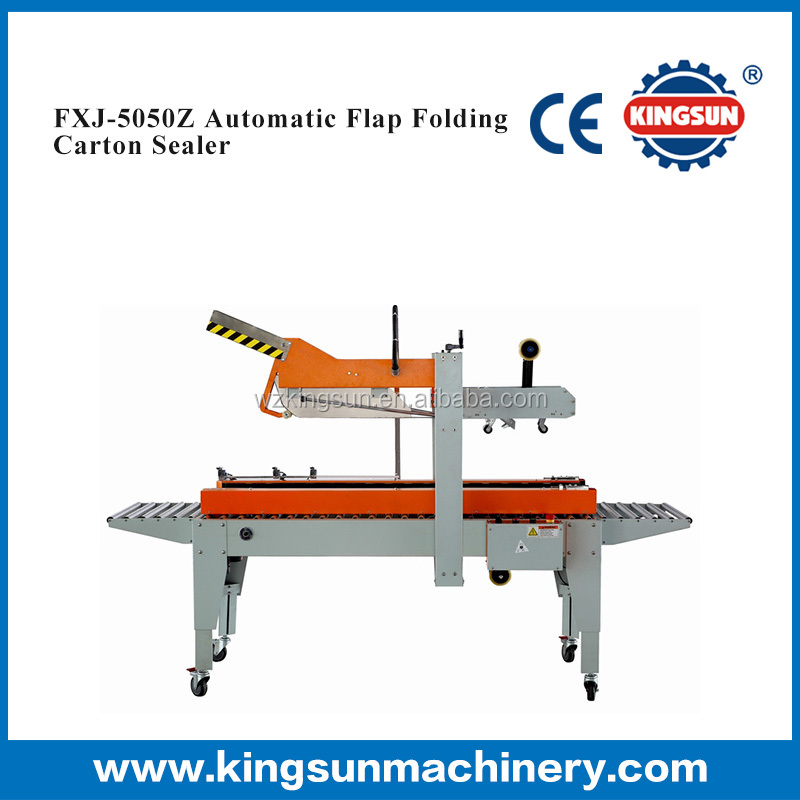 FXJ-5050Z Automatic Flap Folding carton tape sealer, automatic caron sealer