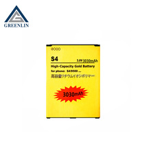 Gold mobile phone battery for samsung s4 i9500
